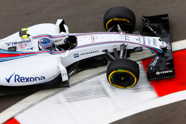 Sochi Autodrom, Sochi, Russia. Friday 9 October 2015. Valtteri Bottas, Williams FW37 Mercedes. World Copyright: Charles Coates/LAT Photographic ref: Digital Image _J5R9446
