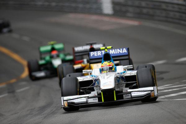 2013 GP2 Series. Round 4.  Monte Carlo, Monaco. 54th May 2013. Saturday Race. Rio Haryanto (INA, Barwa Addax Team). Action.  World Copyright: Glenn Dunbar/GP2 Series Media Service. Ref: _89P2782