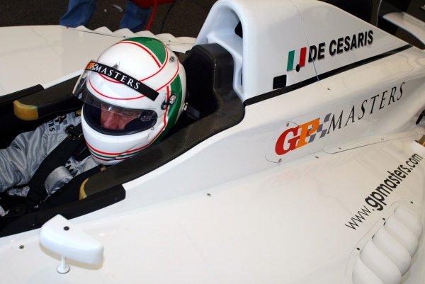 Andrea de Cesaris (ITA).Grand Prix Masters Testing, Day One, Silverstone, England, 26 October 2005.DIGITAL IMAGE