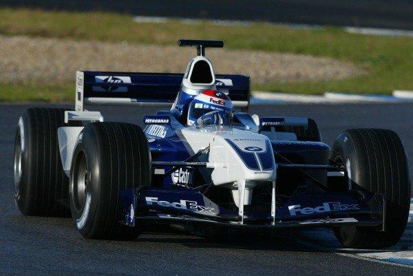 Marc Gene (ESP) Williams Test Driver Formula One Testing , 12 - 15 December 2002Jerez, Spain.DIGITAL IMAGE