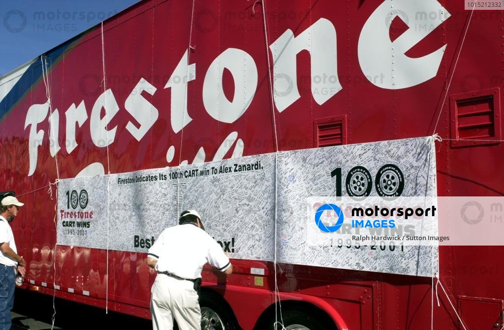 Firestone's get well card for Alex Zanardi