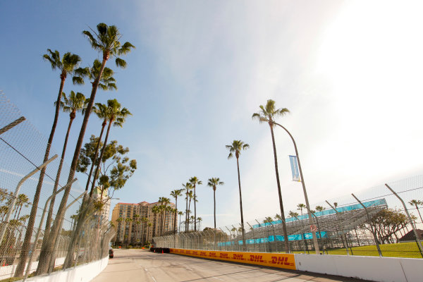 2014/2015 FIA Formula E Championship. Long Beach ePrix, Long Beach, California, United States of America. Friday 3 April 2015 View of the track. Photo: Zak Mauger/LAT/Formula E ref: Digital Image _MG_5114
