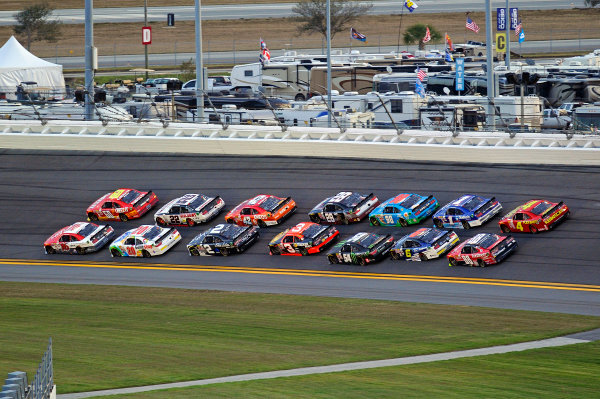 20-21 February, 2015, Daytona Beach, Florida USA Ryan Reed and Chris Buescher race for the lead in the closing laps. ?2015, F. Peirce Williams LAT Photo USA