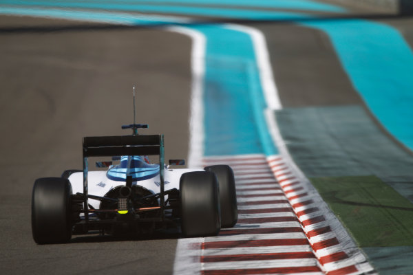 Yas Marina Circuit, Abu Dhabi, United Arab Emirates. Wednesday 26 November 2014. Felipe Nasr, Williams FW36 Mercedes.  World Copyright: Sam Bloxham/LAT Photographic. ref: Digital Image _G7C9675