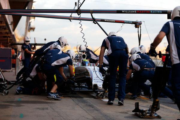 Circuit de Catalunya, Barcelona, Spain Thursday 25 February 2016. Felipe Massa, Williams FW38 Mercedes. World Copyright: Glenn Dunbar/LAT Photographic ref: Digital Image _89P6598