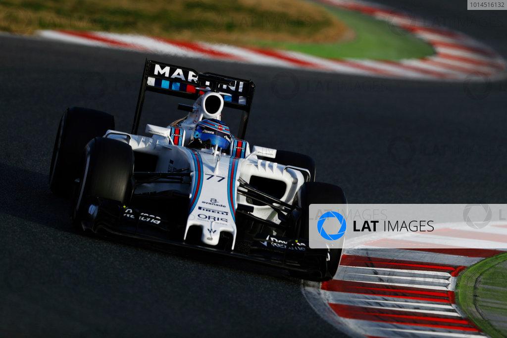 Circuit de Catalunya, Barcelona, Spain Monday 22 February 2016. Valtteri Bottas, Williams FW38 Mercedes.  World Copyright: Steven Tee/LAT Photographic ref: Digital Image _H7I0936