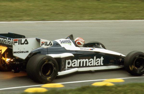 Brands Hatch, England.23-25 September 1983.Nelson Piquet (Brabham BT52B BMW) 1st position.  Ref: 83EUR14. World Copyright - LAT Photographic