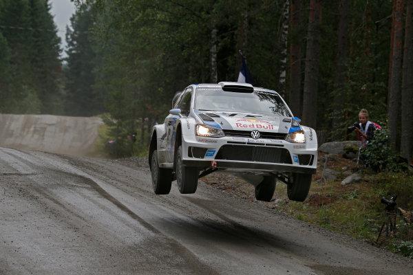 2013 FIA World Rally Championship Round 08-Rally Finland 31/7-3/8 2013. Sebastien Ogier, VW WRC, Action  Worldwide Copyright: McKlein/LAT