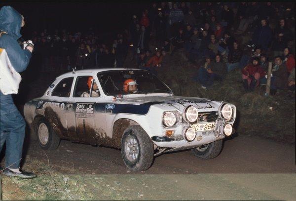 1973 RAC Rally. Roger Clark / Tony Mason, Ford Escort RS1600 MK1.