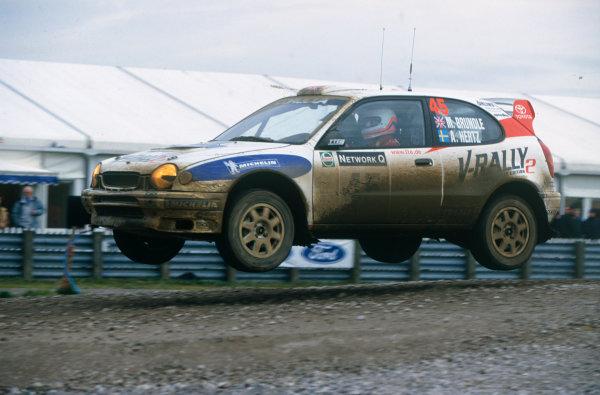 Network Q Rally GB, Great Britain. 21-23 November 1999.Martin Brundle / Arne Hertz (Toyota Corolla WRC), retired, action.World Copyright: LAT PhotographicRef: 35mm transparency.