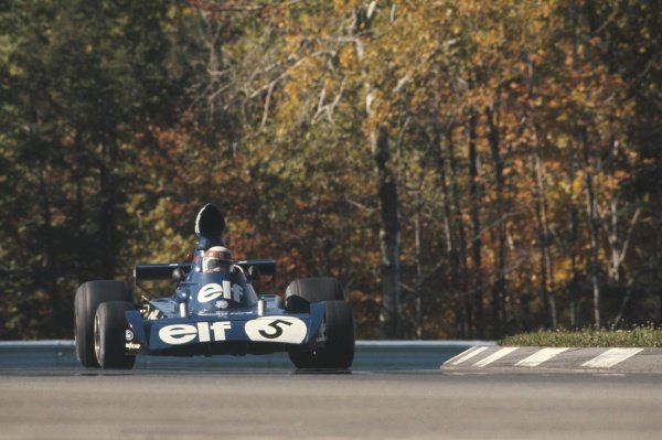 1973 United States Grand Prix.Watkins Glen, New York State, USA. 7 October 1973.Jackie Stewart (Tyrrell 006-Ford Cosworth), did not start for what would have been his last GP.World Copyright: LAT PhotographicRef: 35mm transparency/MotorSport calendar