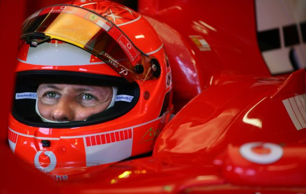 2005 Italian Grand Prix - Saturday Qualifying,Monza, Italy. 3rd September 2005 Michael Schumacher, Ferrari F2005.World Copyright: Steve Etherington/LAT Photographic ref: 48mb Hi Res Digital Image