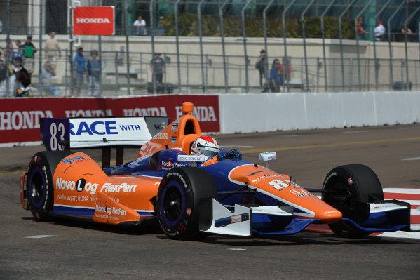 Charlie Kimball (USA) Novo Nordisk Chip Ganassi Racing. IndyCar Series, Rd1, Honda Grand Prix of St. Petersburg, St. Petersburg, Florida, USA, 22-24 March 2013.