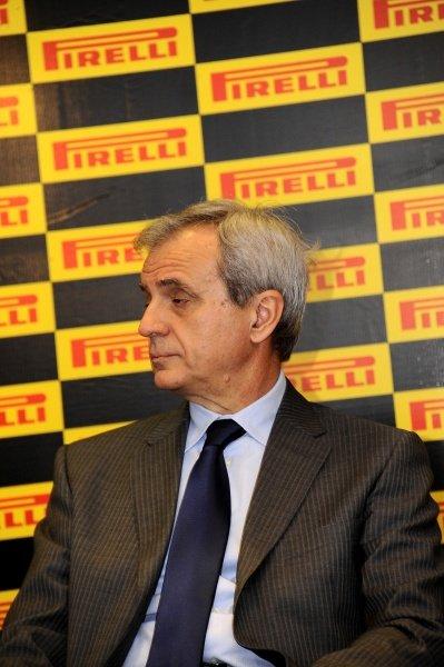 Maurizio Boyocchi (ITA), Pirell's senior vice president of product and R&D.Pirelli 2012 Pre-Season Launch, Yas Marina Circuit, Abu Dhabi, Wednesday 25 January 2012.