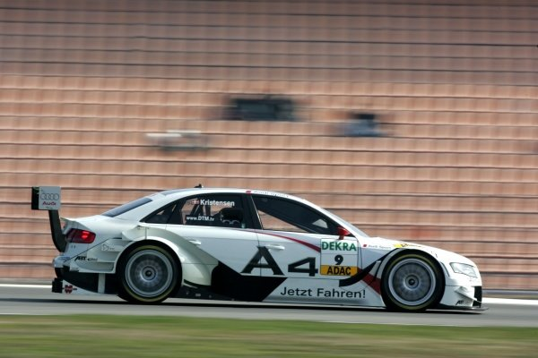 Tom Kristensen (DEN) Audi Sport Team Abt  DTM, Rd 1, Hockenheim, Germany, 12-13 April 2008.