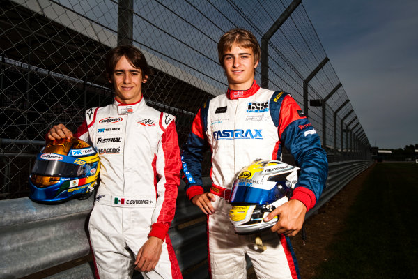 Round 4.Silverstone, England. 8th July 2010. Thursday Preview. Esteban Gutierrez, (MEX, ART Grand Prix) and Nico Muller, (Sui, Jenzer Motorsport), winners of races 5 and 6 in the GP3 series in Valencia.Portrait. World Copyright: Drew Gibson/LAT PhotographicDigital Image _Y2Z7252