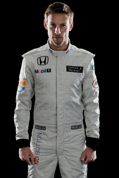 McLaren Honda MP4-30 Reveal Woking, UK. 29 January 2015 Jenson Button. Photo: McLaren (Copyright Free FOR EDITORIAL USE ONLY) ref: Digital Image MH-Drivers-20150127-0428