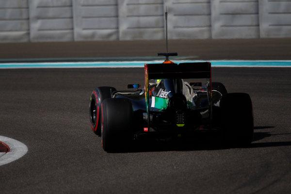 Yas Marina Circuit, Abu Dhabi, United Arab Emirates. Wednesday 26 November 2014. Spike Goddard, Force India VJM07 Mercedes.  World Copyright: Sam Bloxham/LAT Photographic. ref: Digital Image _G7C9113