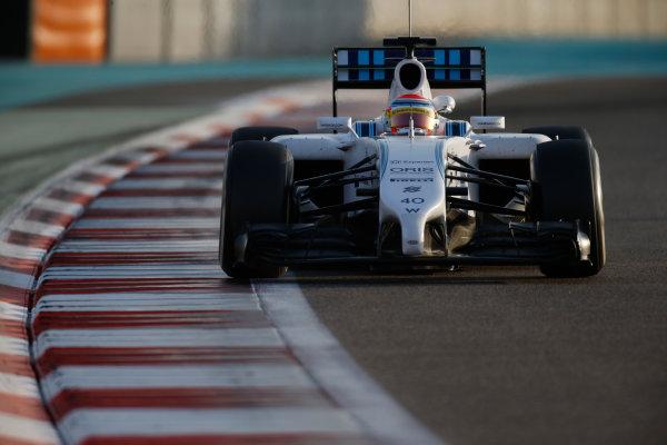 Yas Marina Circuit, Abu Dhabi, United Arab Emirates. Wednesday 26 November 2014. Felipe Nasr, Williams FW36 Mercedes. World Copyright: Glenn Dunbar/LAT Photographic. ref: Digital Image _89P8832