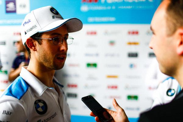 Alexander Sims (GBR) BMW I Andretti Motorsports talks to the press