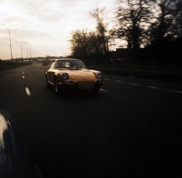 Porsche 911 at speed.
