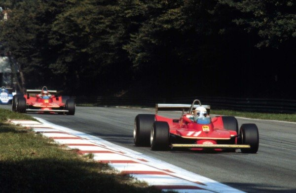 1979 Italian Grand Prix.Monza, Italy.7-9 September 1979.Jody Scheckter leads Gilles Villeneuve (Ferrari 312T4). They finished in 1st and 2nd positions respectively with Scheckter clinching the World Championship.World Copyright - LAT Photographic