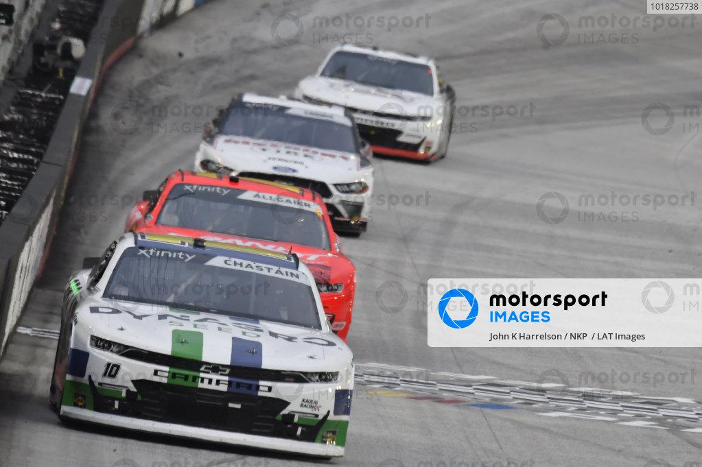 #10: Ross Chastain, Kaulig Racing, Chevrolet Camaro Dyna-Gro Seed, #7: Justin Allgaier, JR Motorsports, Chevrolet Camaro BRANDT