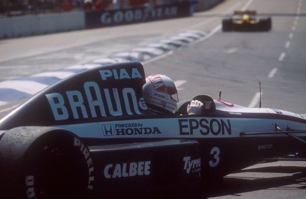 1991 Australian Grand Prix.Adelaide, Australia.1-3 November 1991.Satoru Nakajima (Tyrrell 020 Honda). He exited the race after spinning out on lap 5. This was his last Grand Prix.Ref-91 AUS 32.World Copyright - LAT Photographic