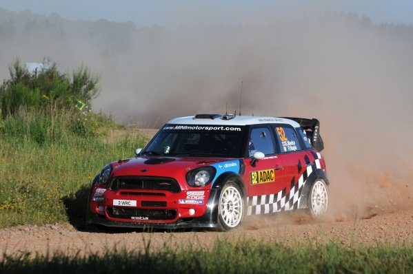 Kris Meeke (GBR), Mini John Cooper Works, on stage 7. World Rally Championship, Rd9, ADAC Rally Deutschland, Trier, Germany. Day Two, Saturday 20 August 2011.