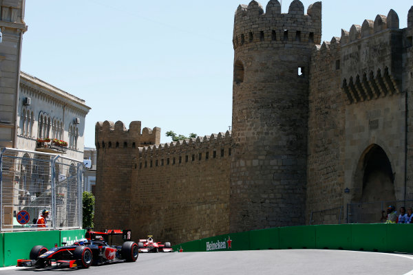Baku City Circuit, Baku, Azerbaijan. Saturday 24 June 2017. Nyck De Vries (NED, Rapax)  World Copyright: Hone/LAT Images ref: Digital Image _ONY9648