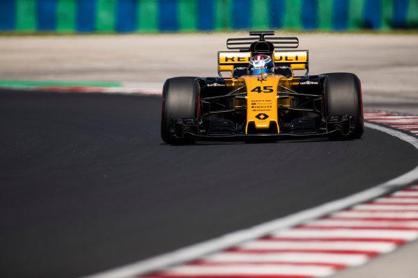 Hungaroring, Budapest, Hungary.  Tuesday 01 August 2017. Nicholas Latifi, Renault R.S.17. World Copyright: Joe Portlock/LAT Images  ref: Digital Image _R3I0367.CR2