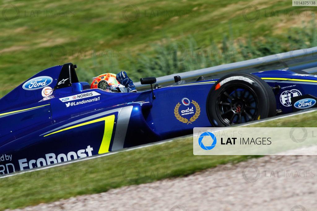 2015 MSA Formula Powered by Ford EcoBoost, Oulton Park, Cheshire. 5th - 7th June 2015. Lando Norris (GBR) Carlin MSA Formula. World Copyright: Ebrey / LAT Photographic.
