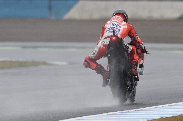 2017 MotoGP Championship - Round 15 Motegi, Japan. Friday 13 October 2017 Jorge Lorenzo, Ducati Team World Copyright: Gold and Goose / LAT Images ref: Digital Image 696288