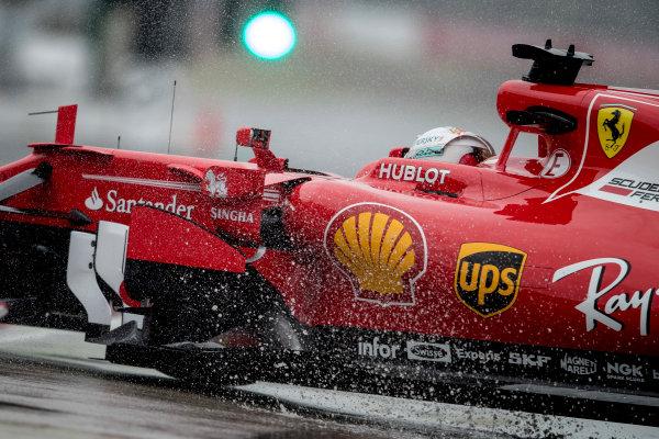 Suzuka Circuit, Japan. Friday 6 October 2017. Sebastian Vettel, Ferrari SF70H.  World Copyright: Glenn Dunbar/LAT Images  ref: Digital Image _31I6191