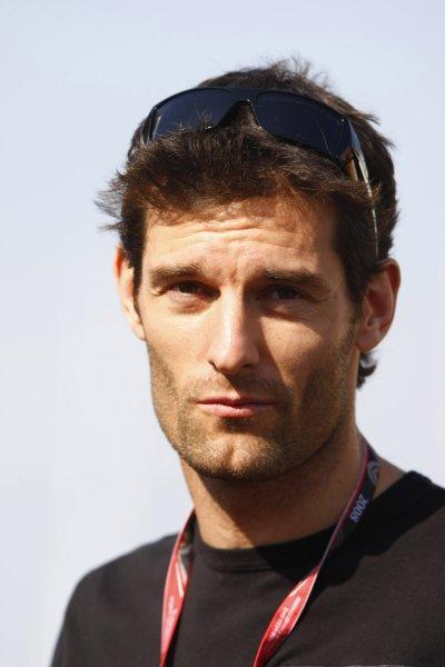 2008 Spanish Grand Prix - Thursday PreviewCircuit de Catalunya, Barcelona, Spain.24th April 2008.Mark Webber, Red Bull Racing RB4 Renault. Portrait. World Copyright: Charles Coates/LAT Photographic.ref: Digital Image _26Y0788