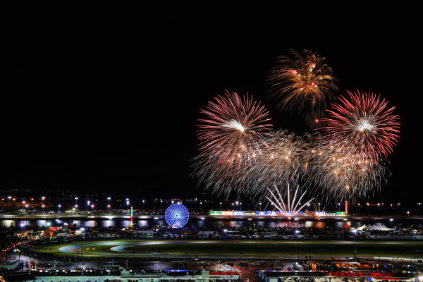 2017 Rolex 24 Hours. Daytona, Florida, USA. Saturday 28 January 2017. Fireworks World Copyright: Michael L. Levitt/LAT Images