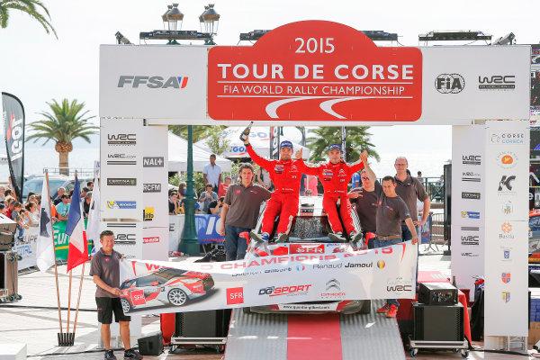 2015 World Rally Championship Round 11, Tour de Corse  1st - 4th October, 2015 Quentin Gilbert, DS, winner J-WRC, J-WRC world champion  Worldwide Copyright: McKlein/LAT
