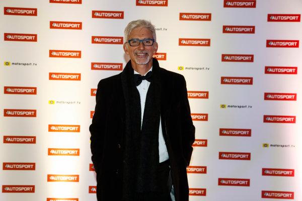 2017 Autosport Awards Grosvenor House Hotel, Park Lane, London. Sunday 3 December 2017. Damon Hill. World Copyright: Glenn Dunbar/LAT Images Ref: Digital Image _31I1502