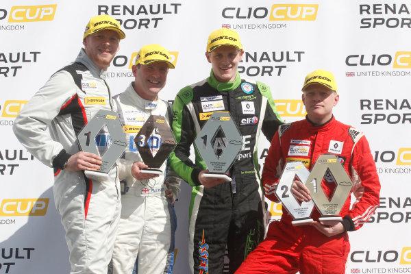 2016 Renault Clio Cup, Donington Park, 16th-17th April 2016, Podium World copyright. Jakob Ebrey/LAT Photographic
