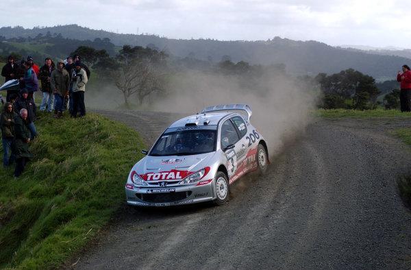 2002 World Rally Championship.Propecia Rally of New Zealand, Auckland, October 3rd-6th.Harri Rovanpera during shakedownPhoto: Ralph Hardwick/LAT