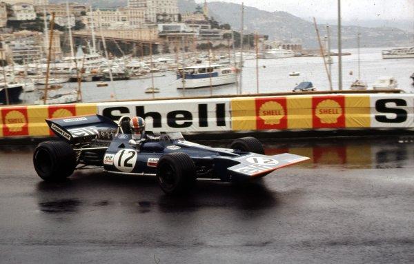 1971 Monaco Grand Prix.Monte Carlo, Monaco.20-23 May 1971.Francois Cevert (Tyrrell 002 Ford).Ref-71 MON 05.World Copyright - LAT Photographic