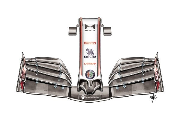 Alfa Romeo Racing C39 front wing nose