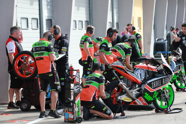 RBA Racing Team at works in the pitlane