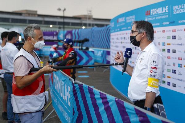 Mark Preston, Team Principal, DS Techeetah talks to the press