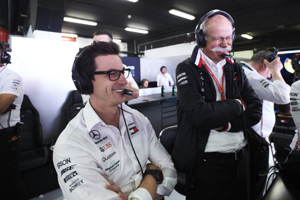 Toto Wolff, Executive Director (Business), Mercedes AMG, and Dr Dieter Zetsche, CEO, Mercedes Benz