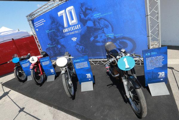 70th Anniversary GP display.