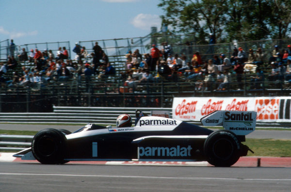 Montreal, Canada.15-17 June 1984.Nelson Piquet (Brabham BT53 BMW) 1st position.Ref-84 CAN 07.World Copyright - LAT Photographic