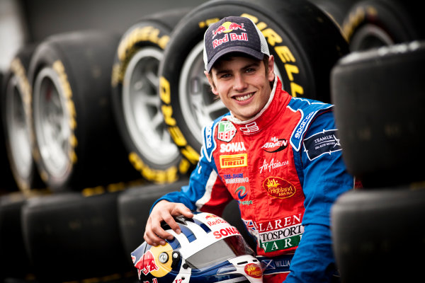 Round 5. Nurburgring, Germany. 21st July 2011.Thursday Preview. Lewis Williamson, (GBR, MW Arden), winner of race 8 at round 4 in Silverstone. Portrait. Photo: Drew Gibson/GP3 Media Service.  ref: Digital Image _Y2Z3726