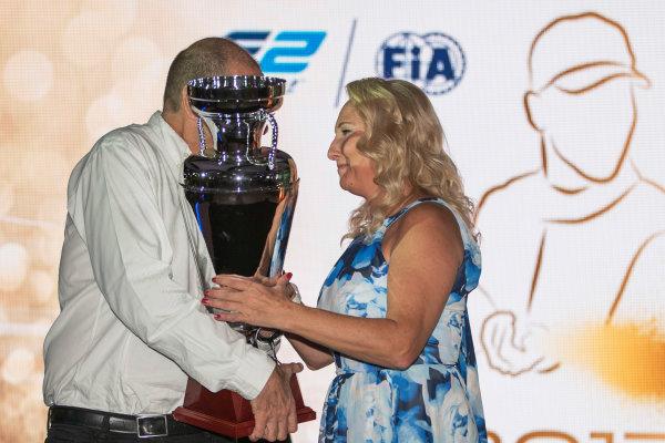 2017 Awards Evening. Yas Marina Circuit, Abu Dhabi, United Arab Emirates. Sunday 26 November 2017.  Photo: Zak Mauger/FIA Formula 2/GP3 Series. ref: Digital Image _56I3887