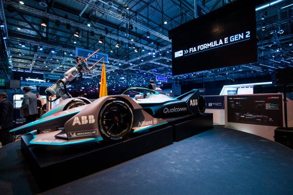 2017/2018 FIA Formula E Championship. Geneva Motor Show Tuesday 6 March 2018. The FIA Formula-E Gen2 car is unveiled. Photo: Sam Bloxham/LAT/Formula E ref: Digital Image _W6I3886
